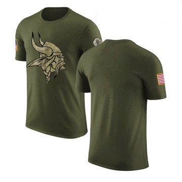 Men's Blank Minnesota Vikings Olive Salute to Service Legend T-Shirt