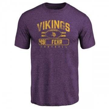 Men's Jordan Fehr Minnesota Vikings Flanker Tri-Blend T-Shirt - Purple